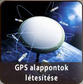 Földmérés GPS alappontok létesítése